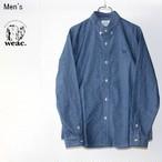 【ラスト1点】 weac./ウィーク シャンブレーボタンダウンシャツ PUGCHAN(BLUE) 【Men's】