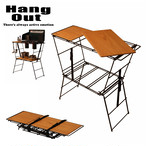 HangOut (ハングアウト) Crank Cooling Table クランク クッキング テーブル ラック アウトドア グッズ キャンプ 用品 折り畳み コンパクト 棚 バーベキュー crt-ct90