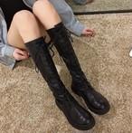 ブーツ レディース ロングブーツ 秋冬 レースアップ 編み上げブーツ 膝丈 ローヒール 厚底 美脚 ブーツ レディース ロングブーツ 秋冬 レースアップ 編み上げブーツ 膝丈 厚底 美脚 ブーツ