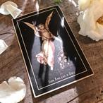 十字架を掲げる天使のデスカード