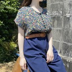 Made in France Christine Laure flower pleats top
