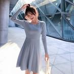 【dress】ニットワンピースシンプル定番キュートワンピース
