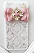 【送料無料】angel flower /スマホケース/iphoneケース/ピンク/お花/スワロフスキー(iPhone6・iPhone6plus・iPhone6s・iPhone6s plus・iPhone7・iPhone7plus)