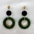 モコモコ hoop pierce green[送料無料]