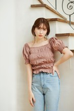 Smocked Jersey Top
