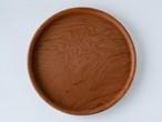 【現品限り】けやき よい木目の丸盆  直径24 cm 無塗装 1~2人用