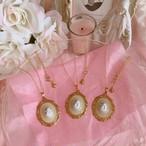 Antique Angel Cabochon Necklace
