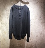 80's WEST-GERMANY ARMY HENLEY NECK KNIT