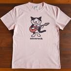 ねこロックTシャツ ライトピンク
