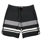 LIVE FIT Wedge Boardshorts - Black SF800