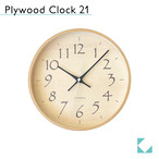 KATOMOKU plywood clock 21 km-120BL 掛け時計
