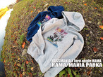【限定商品:少量在庫入荷!】 HAMA/MANIA PARKA ハマ/マニア パーカー BASSMANIA バスマニア x HAMA コラボパーカー
