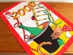 【時代の移り変わり】ミレニアム2000年の幸せモチーフ キッチンクロス /ヴィンテージ・ドイツ ティータオル・未使用品