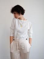 silket cotton tee(off white)