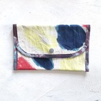 手染め帆布のフラットケース・小物入れ / mulch