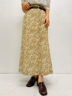 (PAL) paisley flare long skirt