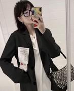 レタリングタグジャケット ジャケット アウター 韓国ファッション