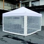 かんたんテント3オプション 糸入り透明横幕一方幕 2.4m