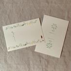 活版印刷 オリジナルポストカード2枚セット(送料込)