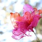 ピンクオレンジ|カラフルオーガンジーのアートフラワー【造花】