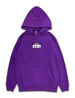 LOGO PATCH FLOWER HOODIE purple