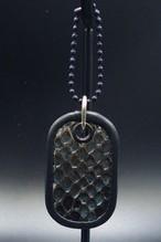 Item No.0334: Dog tag key holder/Diamond python