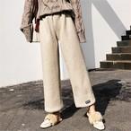 【ボトムス】切り替えファッションアルファベットガウチョパンツ 23962113