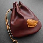 もっちりチョコ色の勇鯛くんの巾着袋