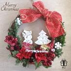 【クリスマス】Merry Christmas2017✳︎雪だるま&ツリーピック クリスマスフラワーリース