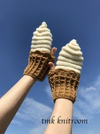 クレジット決済以外も可「ソフトクリームのミトン」印刷物編み図(印刷料・送料込み)