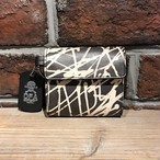 DFA:ESPY SKINNY TAG LEATHER WALLET/ mini BLACK×WHITE