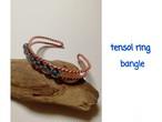 テンソルリングLost 1/2&コスモオーラクォーツのバングル