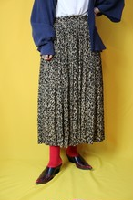 leopard gather skirt【0103】