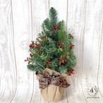 【クリスマス】高さ50cm  シンプルなクリスマスツリー(レッド) モニュメント 壁飾り 壁掛け