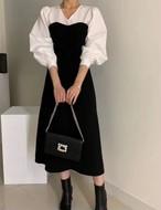 アガサワンピース ワンピース ロングワンピース 韓国ファッション