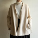TENNE HANDCRAFTED MODERN【 womens 】no collar knit jacket