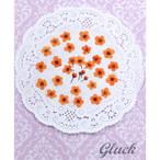 コンパクト押し花 こでまり(オレンジ) 少量をパックにしてお届け! 押し花素材