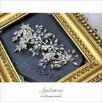 マーキスジルコニア・パールビジュ― ウェディングヘッドドレス silver