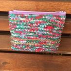 手織りポーチ(大)パープル
