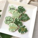 monstera leaf cookie (10個単位でご購入ください@540)