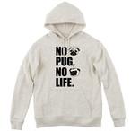 NO PUG NO LIFE プルオーバーパーカー