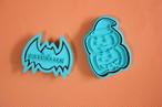 【ハロウィン】ジャック・オー・ランタン and コウモリ クッキー型