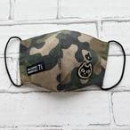 黒猫マスク*通気性が良くてオールシーズン使える【カモフラ×クラウン黒猫ワッペン】