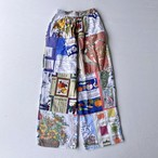 Vintage fabric patchwork remake pants