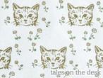 レターセット - 猫と花 - tales on the desk