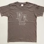にゃんきーとすTシャツ「フラワー」チャコール