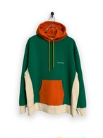 Original Hooded Sweatshirt / 3tone / green×orange×white