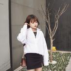 back lace stich white shirts 2217