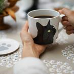 【ann nyström design】黒猫のマグカップ