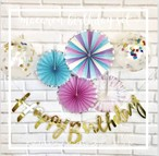 マカロンファンバースデーセット 誕生日 ピンク 1歳 赤ちゃん ベビー 飾り 装飾 飾りつけ